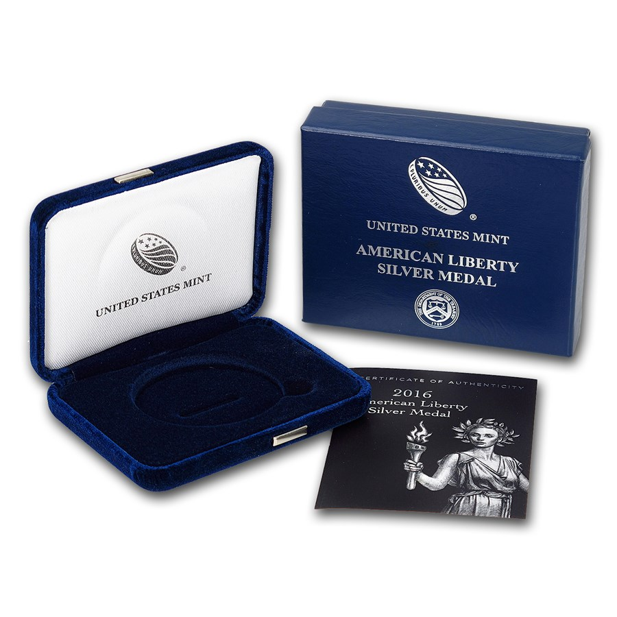 OGP Box & COA - 2016 (S) American Liberty Silver Medal Proof