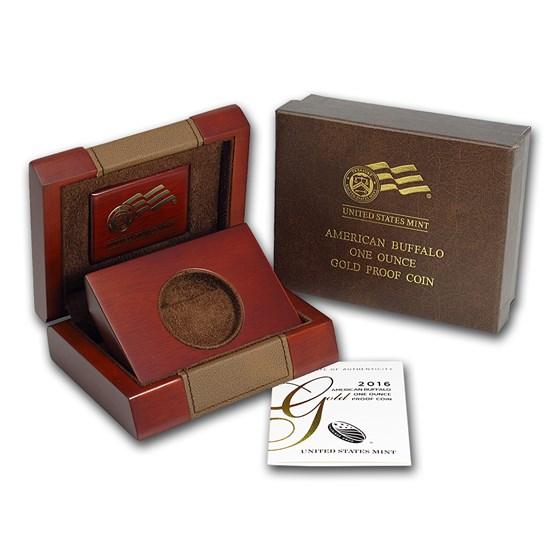 OGP Box & COA - 2016-W Proof 1 oz Gold Buffalo Coin