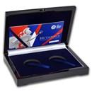 OGP Box & COA - 2017 2-Coin Silver 1 oz Britannia Pf/Reverse Set