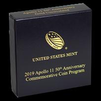 OGP Box & COA - 2019 Apollo 11 50th Anniversary $5 Gold BU