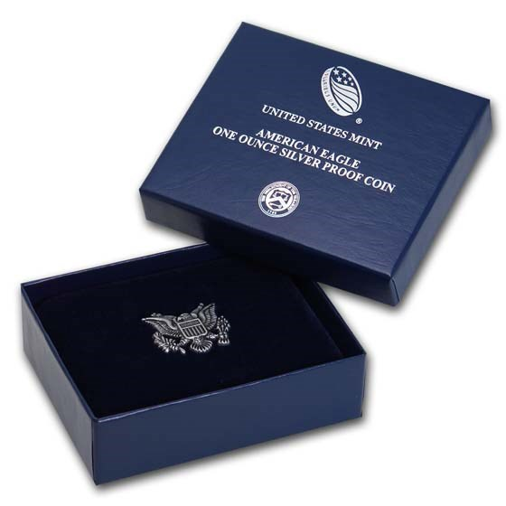 OGP Box & COA - 2019-W 1 oz Proof Silver American Eagle