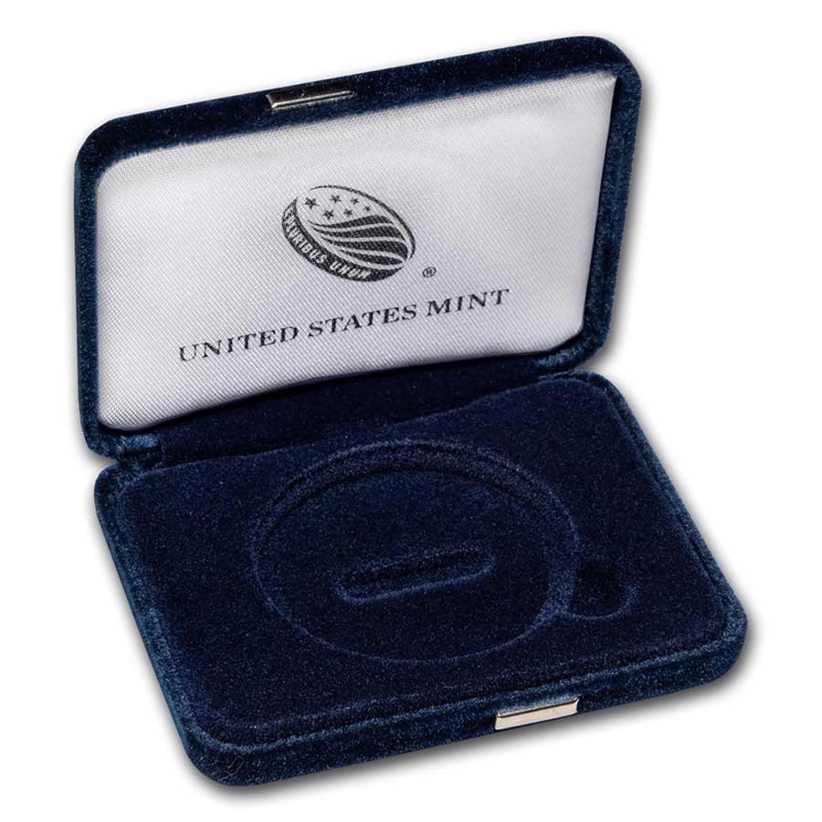OGP Box & COA - 2021-W Silver American Eagle Proof (Empty)