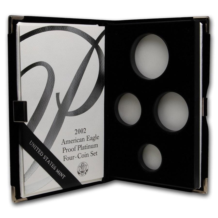 OGP Box & COA - Proof 4-Coin Platinum Eagle Set (Empty)