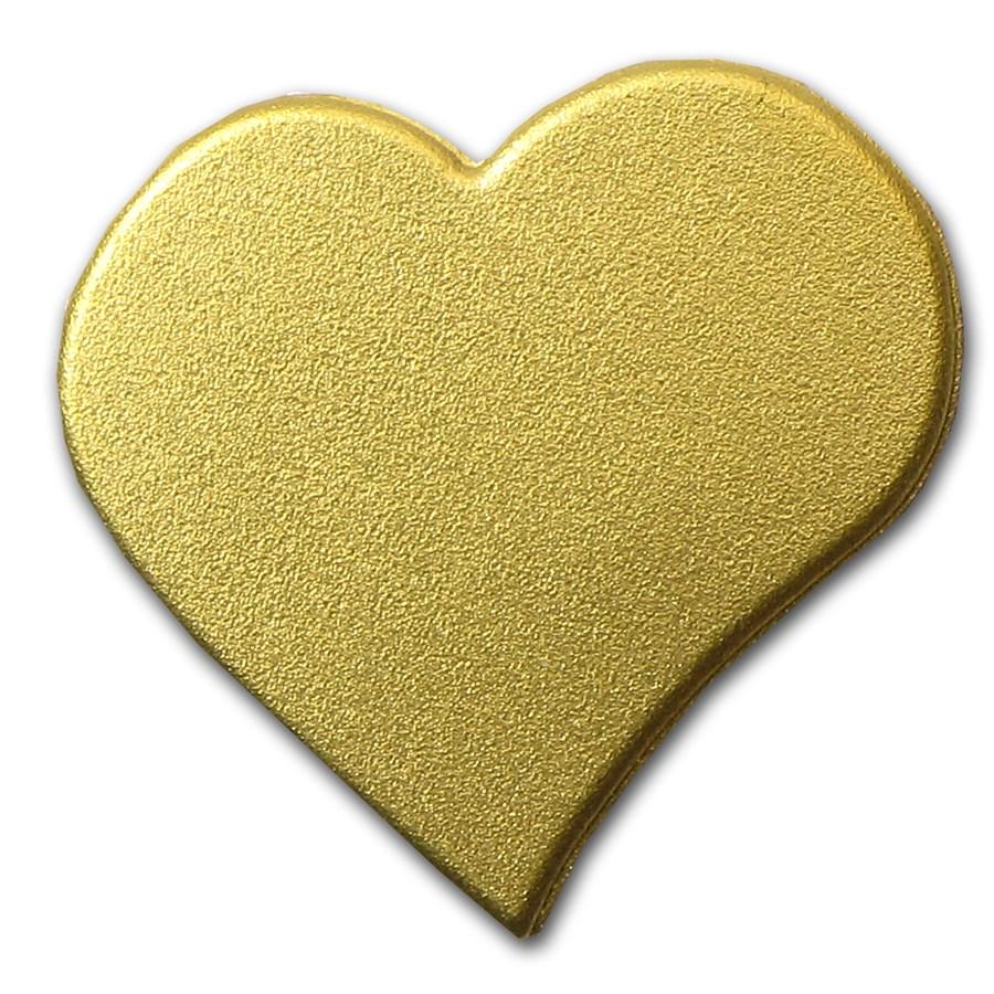 Palau 1/2 gram Gold $1 Everlasting Love Heart Coin