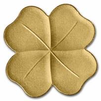 Palau 1/2 gram Gold $1 Four-Leaf Clover