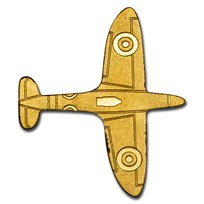 Palau 1/2 gram Gold $1 Golden Airplane
