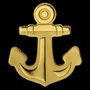 Palau 1/2 gram Gold $1 Golden Anchor