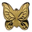 Palau 1/2 gram Gold $1 Golden Butterfly Coin
