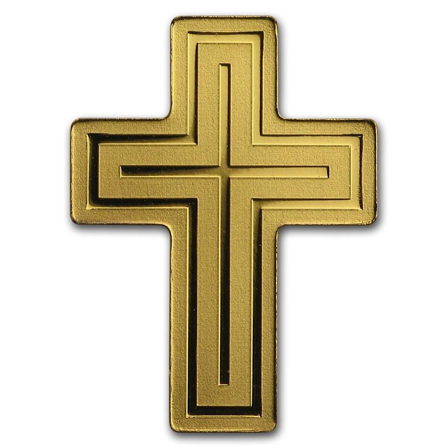 Palau 1/2 gram Gold $1 Golden Crucifix