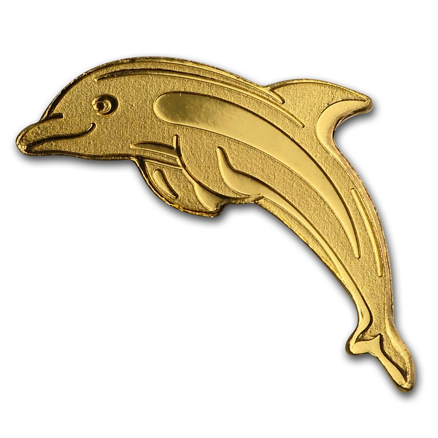 Palau 1/2 gram Gold $1 Golden Dolphin