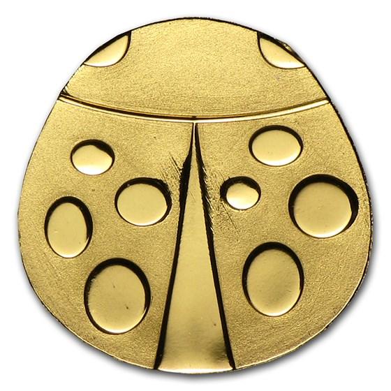 Palau 1/2 gram Gold $1 Golden Ladybug Coin
