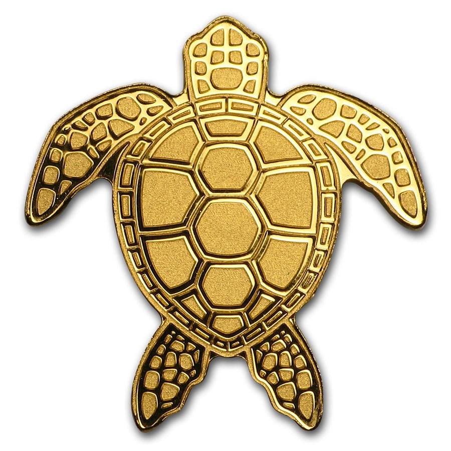 Palau 1/2 gram Gold $1 Golden Sea Turtle