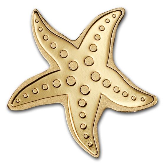 Palau 1/2 gram Gold $1 Golden Starfish