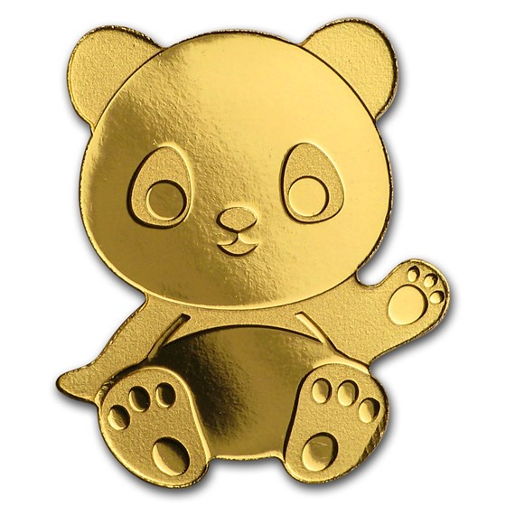 Palau 1/2 gram Gold $1 Little Panda Coin