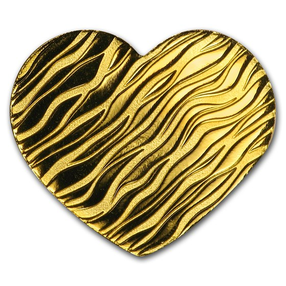 Palau 1/2 gram Gold $1 Little Treasure (Heart)