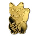 Palau 1/2 gram Gold $1 Maneki Neko Lucky Cat