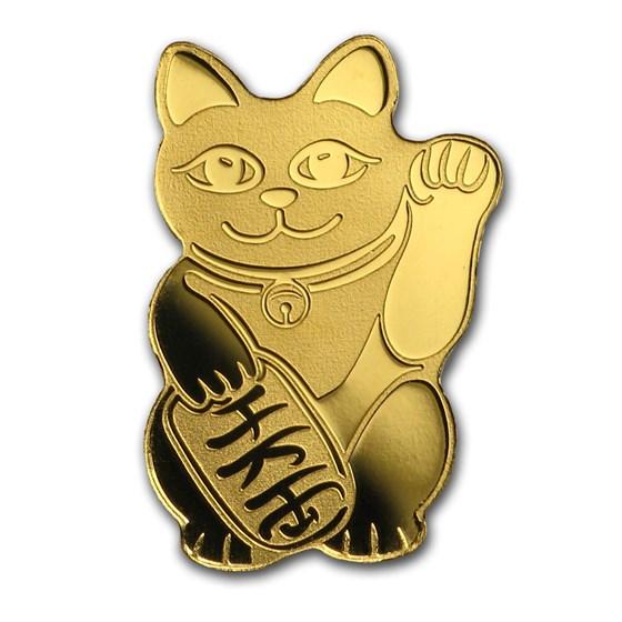 Palau 1/2 gram Gold $1 Maneki Neko Lucky Cat