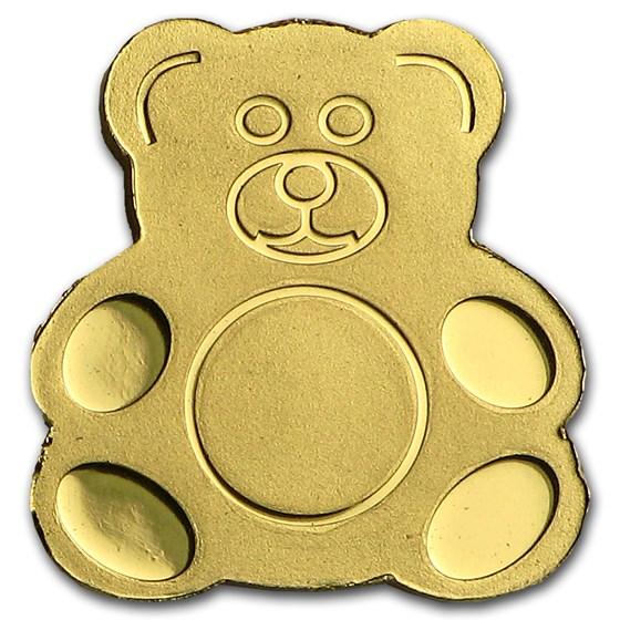 Palau 1/2 gram Gold $1 Teddy Bear