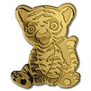 Palau 1/2 gram Gold $1 Tiny Tiger