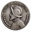 Panama Silver 1/2 Balboa Avg Circ (ASW .3617)