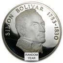 Panama Silver 20 Balboas (1971-1979) AU/UNC/PF