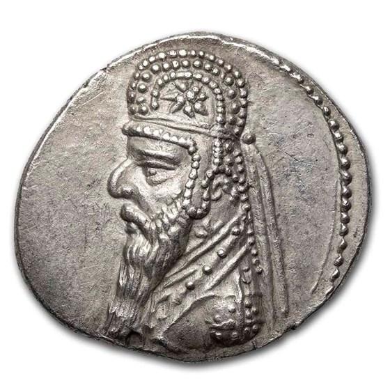 Parthian Empire AR Drachm Mithradates II (121-91 BC) XF