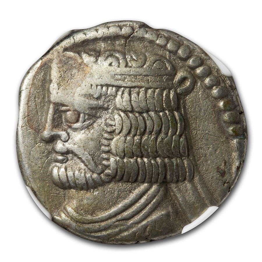 Parthian Empire BI Tetradrachm Vardanes II (55-58 AD) Ch VF NGC