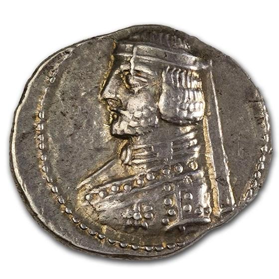 Parthian Empire Phraates III Silver Drachm (70-57 BC) Ch VF