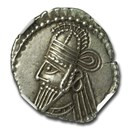 Parthian Empire Silver Drachm Osroes II (190-208 AD) AU NGC