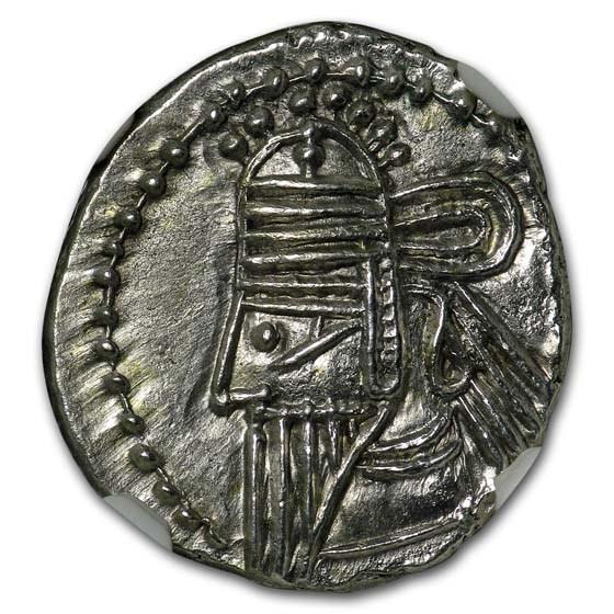 Parthian Empire Silver Drachm Osroes II (190 AD) MS NGC