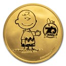 Peanuts® 70th Anniversary with Charlie Brown 1 oz Gold Round