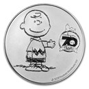 Peanuts® 70th Anniversary with Charlie Brown 1 oz Silver BU Round