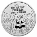 Peanuts® Great Pumpkin 55th Anniversary 1 oz Silver Round