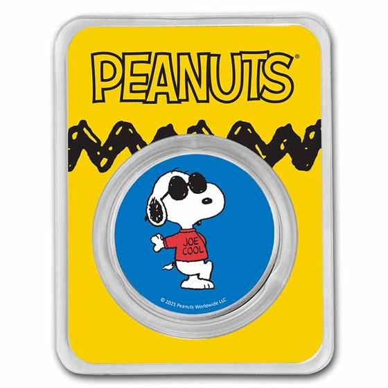 Peanuts® Joe Cool 50th Anniversary 1 oz Colorized Silver