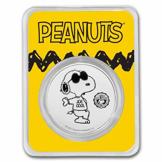 Peanuts® Joe Cool 50th Anniversary 1 oz Silver in TEP
