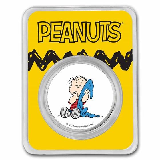 Peanuts® Linus Van Pelt 1 oz Colorized Silver Round