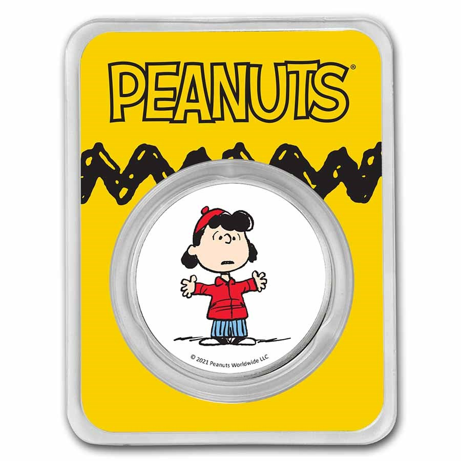 Peanuts® Lucy Van Pelt 1 oz Colorized Silver Round