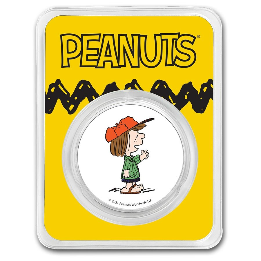 Peanuts® Peppermint Patty 1 oz Colorized Silver Round