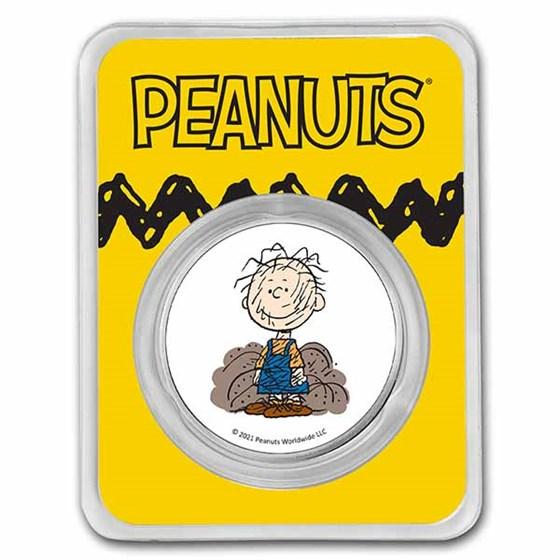 Peanuts® Pig-Pen 1 oz Colorized Silver Round