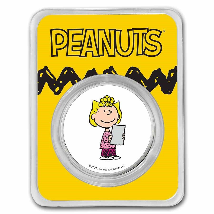 Peanuts® Sally Brown 1 oz Colorized Silver Round