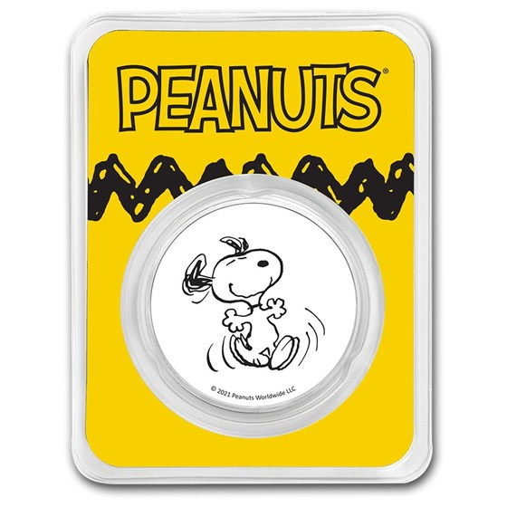 Peanuts® Snoopy 1 oz Colorized Silver Round