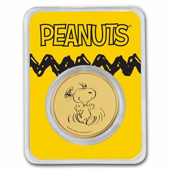 Peanuts® Snoopy 1 oz Gold Round in TEP