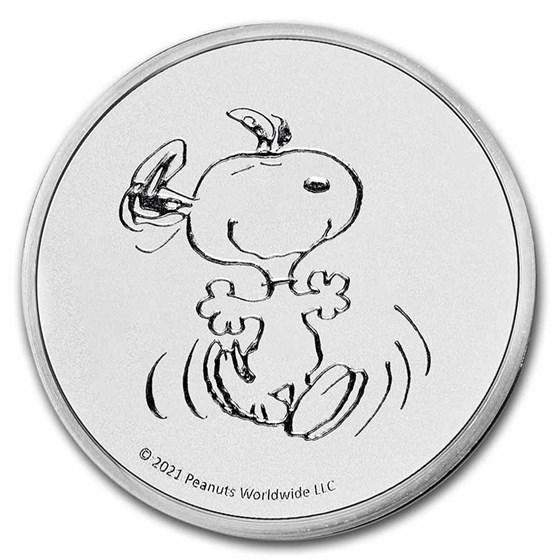 Peanuts® Snoopy 1 oz Silver Round