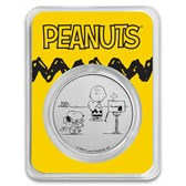 Peanuts® Snoopy and Charlie Brown Valentine 1 oz Silver in TEP