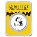 Peanuts® Snoopy & Woodstock Graduation 1 oz Colorized Silver