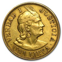 Peru Gold 1 Libra Avg Circ (Random Dates)