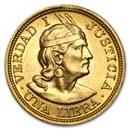Peru Gold 1 Libra BU (AGW .2354)