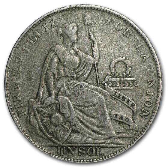 Peru Silver 1 Sol Avg Circ (Random Dates, ASW .4019)