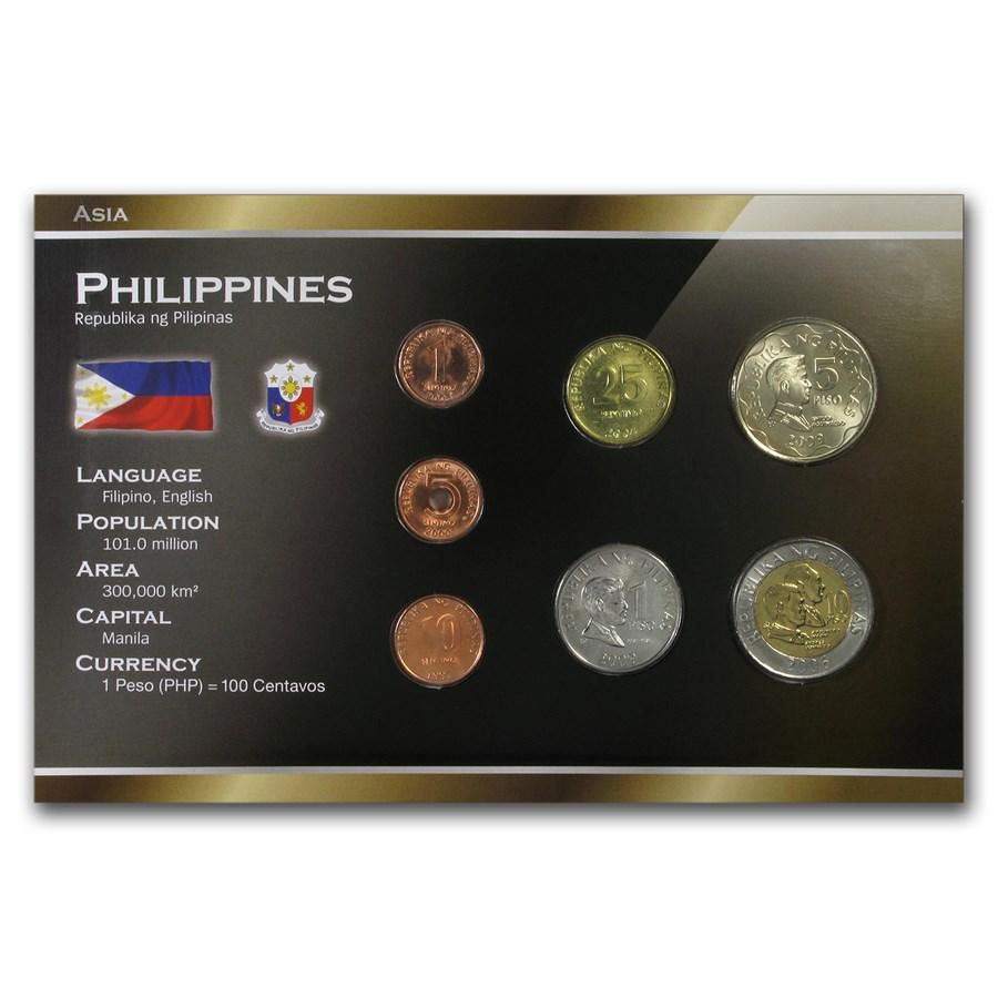 Philippines 1 Sentimo - 10 Piso 7-Coin Set BU