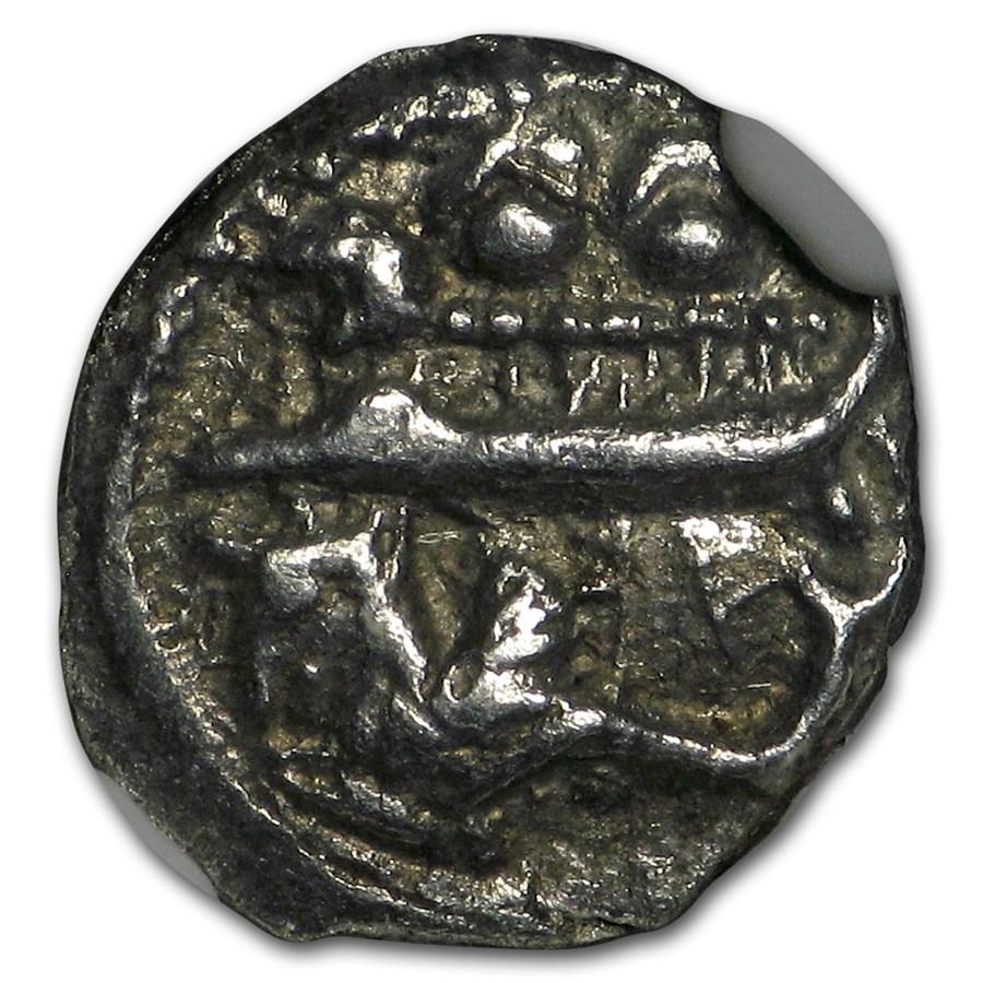 Phoenicia, Byblus Silver AR 1/16 Shekel (350-326 BC) XF NGC